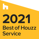 This is a Best of Service badge for 2021 presented to Kansas City Bathroom Remodeling by Houzz.  What does that mean?  Basically it just means they think our company is awesome!